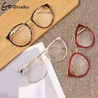 Gootrades rétro myopie lunettes optiques lunettes de lunettes de lunettes pour hommes Femmes Trend Métal Spectacles Clear Lentilles Cadre