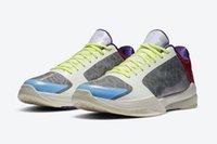 핫 블랙 맘바 v 5 프로트리 PJ 터커 남성 신발 고품질의 Mamba 5 입자 회색 남성 회색 남성 신발 상자 US7-US12