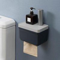 Cajas de tejido Servilletas Sin impermeable Caja impermeable Montado en la pared Rollo de papel Monte Dispensador de cocina para accesorios de baño
