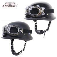 Moto rétro demi-casque de l'équitation en plein air protecteur avec capacète de verre pour la locomotive moto dot1