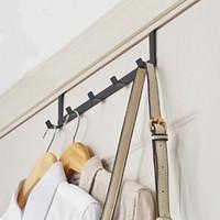 عملي باب الحديد هوك غرفة المعيشة الحائط المعلق دائم مطبخ 5 خطاف وإذ تضع هوك أسود أبيض الملابس قبعة معطف هوك حامل VT0935