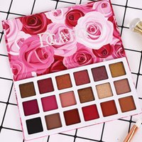18 colori opachi scintillio Shimmer Eye Shadow Palette perlescenti impermeabile ombretto pigmento Occhi di bellezza Makeup Cosmetics Kit