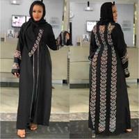 Этническая одежда Abayas для женщин элегантное платье хиджаб Дубай Турция Мусульманская кафтан Малокаин блестящие камни кимоно исламские