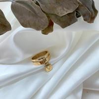 Yeni Bayanlar Retro Mektup Titanyum Çelik Yüzük Kilit Yüzük Moda Yüzük Takı Aksesuarları Aşk Hediye Parti