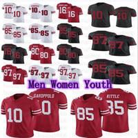 الرجال النساء الشباب كرة القدم 10 جيمي garoppolo 85 جورج كيتل 97 نيك بوسا جيري رايس جو مونتانا جيرسي