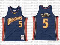 Benutzerdefinierte S-6XL Männer Jugend Basketball Golden City State Team 5 Baron Davis 2006-07 Hardwoods Classics Retro Jersey 01