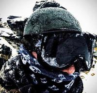 도매 방풍 미러 원통형 스키 고글 더블 레이어 안티 안개 야외 방풍 유리 등반 고글 탄성