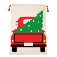 حقائب عيد الميلاد سانتا أكياس قماش قطن كبيرة حقائب العضوية الرباط هدية حزب مهرجان شخصية عيد الميلاد الديكور HHB2393
