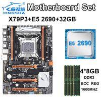Jingsha X79P3 LGA материнская плата Установлена четырехканальные каналы с Xeon E5 2690 и 4 * 8GB = 32GB 1600 МГц DDR3 ECC REG RAM1