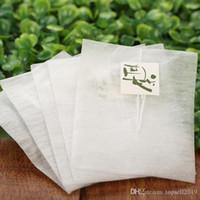 6000 PCS Bolsas de té de fibra de maíz Forma de pirámide Filtro de sellado térmico Filtro de bolsas de té PLA Filtros de té Biodegrado 5.8 * 7cm SN2098