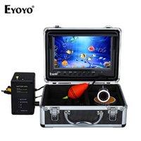 "Fish Finder Eyoyo WF09 Full Silver 9 ""30M Video HD 1000TVL Рыбалка подводная запись DVR White Led 8GB карта"