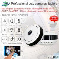 Kameras 1.3mp 360 Grad Wifi Wireless Camera Fisheye Panorama Home Security Network Videoüberwachung IR Nachtversion