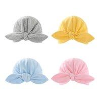 طفل هندي قبعة الوليد مطاطا القطن الطفل قبعة قبعة كاب القوس متعدد الألوان الرضع العمامة القبعات الطفل عقال ZYY552