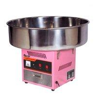 Elektrik Tavaya 72 cm Üst Kase Pamuk Şeker Makinesi İpi Makinesi Pembe 220 V CE Onayı1