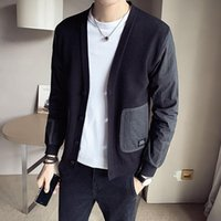 Men' s spring and autumn 2021 new fashion trend stitchin...