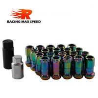 타이어 커버 RACING R40 스타일 프로젝트 KICS 다리미 휠 러그 너트 44mm 20pcs / CIVI With1 세트