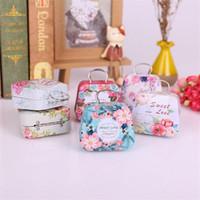 Filles Sac à main Fête Mini Boîte cadeau Petite étain Enfants Boîte de monnaie Boîtes de bonbons Enfants pour la fête de mariage