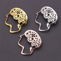 Wholesale 10pcs Jewelry Gear Pin Gold Rose color Gold Metal ...