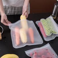 S / M / L EVA Food Aufbewahrungstasche Container Kühlschrank Lebensmittelfrische Tasche Wiederverwendbare Obst Gemüsedichtung Taschen Küche Organizer Beutel EWD1729