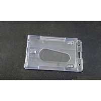Supporto per distintivo in plastica rigido verticale Doppia carta ID Bussiness Office School Stationery 10x6C SQCGWP DH_Seller2010