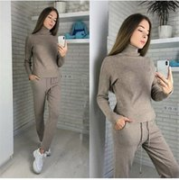 Winter Knitted Warm Suit Casual High Collar Sweater Sweater ...