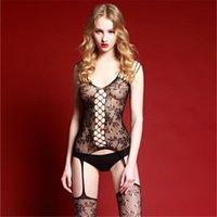 Soutien-gorge Sets Fashion Porn Hollow Out Lingerie Femmes Robe érotique Sexy Costumes transparents Jumpseau Soye Bas Sous-ci 2021