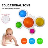 Simple Disple Fidget Zabawki, Fidget Toy Silicone Sensory Sensory Stress Relief Przegniwanie Motyli Board Dla Wczesnej Edukacyjnej Baby Ząbkowanie Zabawki