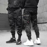 Грузовые брюки Мужчины Повседневная Joggers Брюки Сплошные Мужские Мульти-Карманные Брюки Новый Мужская Спортивная одежда Хип-Хоп Harem Carraffer1
