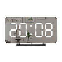 Despertador Digital Relógio LED Tabela de Parede Eletrônico Temperatura Relógios Multifunções Relógio Decoração de Casa LJ200827