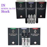 새로운 Eureka 세라믹 vape 카트리지 포장 510 나사 vape 펜 카트리지 0.8ml 기화기 펜 전자 담배 vape carts 빈 오일 분무기