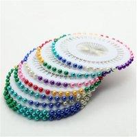 縫製の概念ツール5セット/ 200ピースカラフルな白い衣料品ポジショニング真珠の針のクロスステッチビーズグロメットファブリックマーキングDIY針仕事