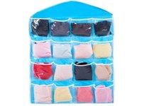 16 poches éponte Sacs de rangement Cosmétiques Jouets Sacs à cheval Garde-robe Organisateur Sous-vêtements Sock bijoux tri sélectif Sacs