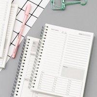 메모장 2021 Planner 노트북 효율 수동 일일 주최자 Libreatas 참고 Books 월간 크래프트 종이 일정 Filofax