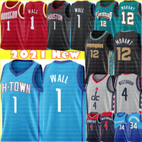 Новая Стена John 1 Wall Jersey 2021 JA 12 Morant Jersey Russell 4 Westbrook Баскетбол Джерси высокого качества Westbrook Jersey