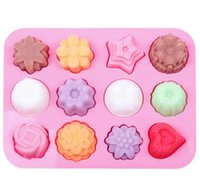 Kuchen Backform Silikon Seifenform 3D Schokolade 12 Loch Backblech Formen Süßigkeiten Machen Werkzeug Diyjelly Form Backwerkzeuge W111