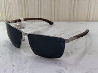 neue Mode-Design-Sonnenbrille T8201017 Metallrahmen Holz Beine einfachen Sommer beliebten Verkaufsstiles uv400 im Freien Schutzbrille