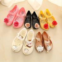 Yaz güzellik canavar mini melissa sandalet prenses kaymaz kızlar jöle ayakkabı Y200103