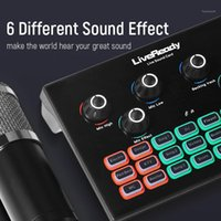 Cartão de som profissional profissional para interface de áudio de computador DJ Sound Mixer Telefone Voice Clanger para BM 800 Microfone1