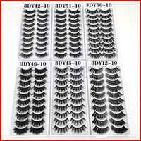 10 Pairs Set 3D Mink False Eyelashes Natural Wispy Fluffy Dr...