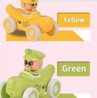 6 unids Fricción de dibujos animados Pequeño coche de fruta bebé tirón y peluche juguete corredero lindo plátano para niños niños regalo educativo
