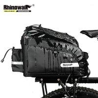 Rhinowalk Велосипедные сумки 17L Горный велосипед Седло стойки Сумки багажника Водонепроницаемый для путешествий Велоспорт Камера багажника Камеры