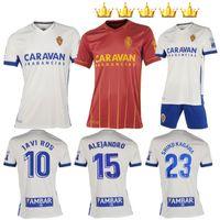 2020 2021 Camiseta Real Zaragoza Soccer Jersey Kids Home Away Jerseys 20 21 Home Futebol Zapater Pombovazquez Ros Camisa Maillots de pé