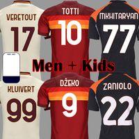 20 21 Zaniolo DZeko Mayoral Pastore Pedro Футбол Футбол 2021 Totti Rome Футбольные Наборы Рубашки De Rossi Как Mailoot Foots
