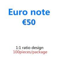 PROP et BAR PROP BANKNOTE Copie Meilleur euro-argent Money Faire semblant 50 03 Papier 100pcs / Pack Movie Wagqe