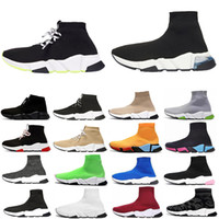 Ace of Dream SOCK MENS para mujer Zapatillas para mujer Entrenador de velocidad Trainerd Red Lace Up Triple Negro Moda Calcetines Sneaker 36-44