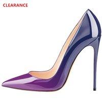 LOVIRS Liquidações 12cm deslizamento alta calcanhar no bico fino Bombas Shoes vestido de festa de casamento Salto para senhoras 1007