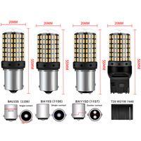 Бесплатная Доставка 1156 BA15S P21W BAU15S PY21W LED T20 7440 W21W P21 / 5W 1157 Bay15D Светодиодные лампы 144SMD Лампа Canbus для сигнала поворота 12V
