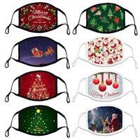 Schneller Versand Weihnachten 2021 Baumwolle einstellbar Ohr Seil Erwachsene Kinder Tuch Maske Atmungsaktive weiche Musterverarbeitung Designer Gesichtsmasken