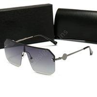 Chrome Hearts Óculos de sol redondos de alta qualidade para homens mulheres frame de liga espelhado uv400 lente ponte dupla eyewear retrô com casos castanhos livres e caixa H12