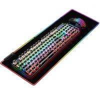 لوحة المفاتيح الماوس مجموعات الألعاب RGB وسادة مجموعة، 104 مفاتيح 6 ميناء ضوء USB ضوء، للكمبيوتر 1